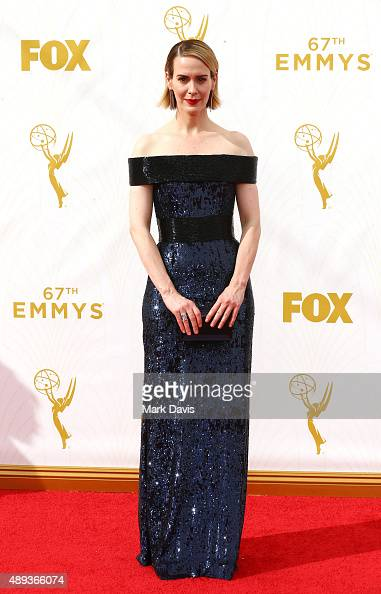 Actress Sarah Paulson attends the 67th Annual Primetime Emmy Awards at Microsoft Theater on September 20 2015 in Los Angeles California