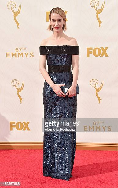 Actress Sarah Paulson attends the 67th Emmy Awards at Microsoft Theater on September 20 2015 in Los Angeles California 25720_001