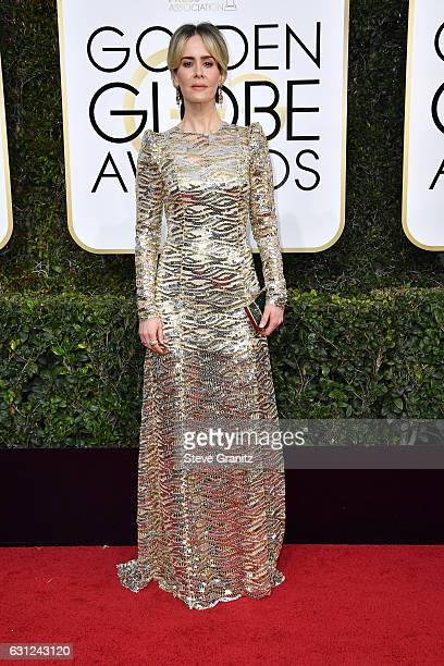 Actress Sarah Paulson attends the 74th Annual Golden Globe Awards at The Beverly Hilton Hotel on January 8 2017 in Beverly Hills California