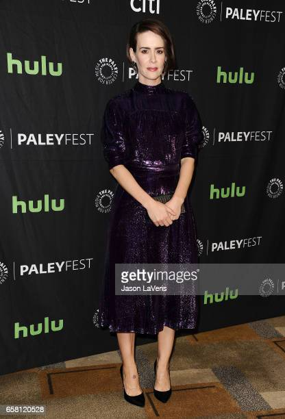 Actress Sarah Paulson attends the 'American Horror Story Roanoke' event at the Paley Center for Media's 34th annual PaleyFest at Dolby Theatre on...
