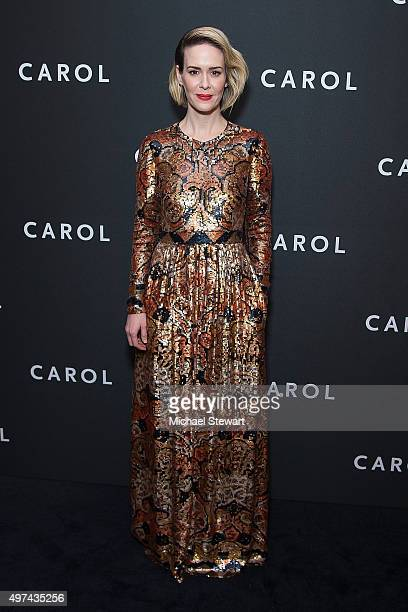 Actress Sarah Paulson attends the 'Carol' New York premiere at Museum of Modern Art on November 16 2015 in New York City