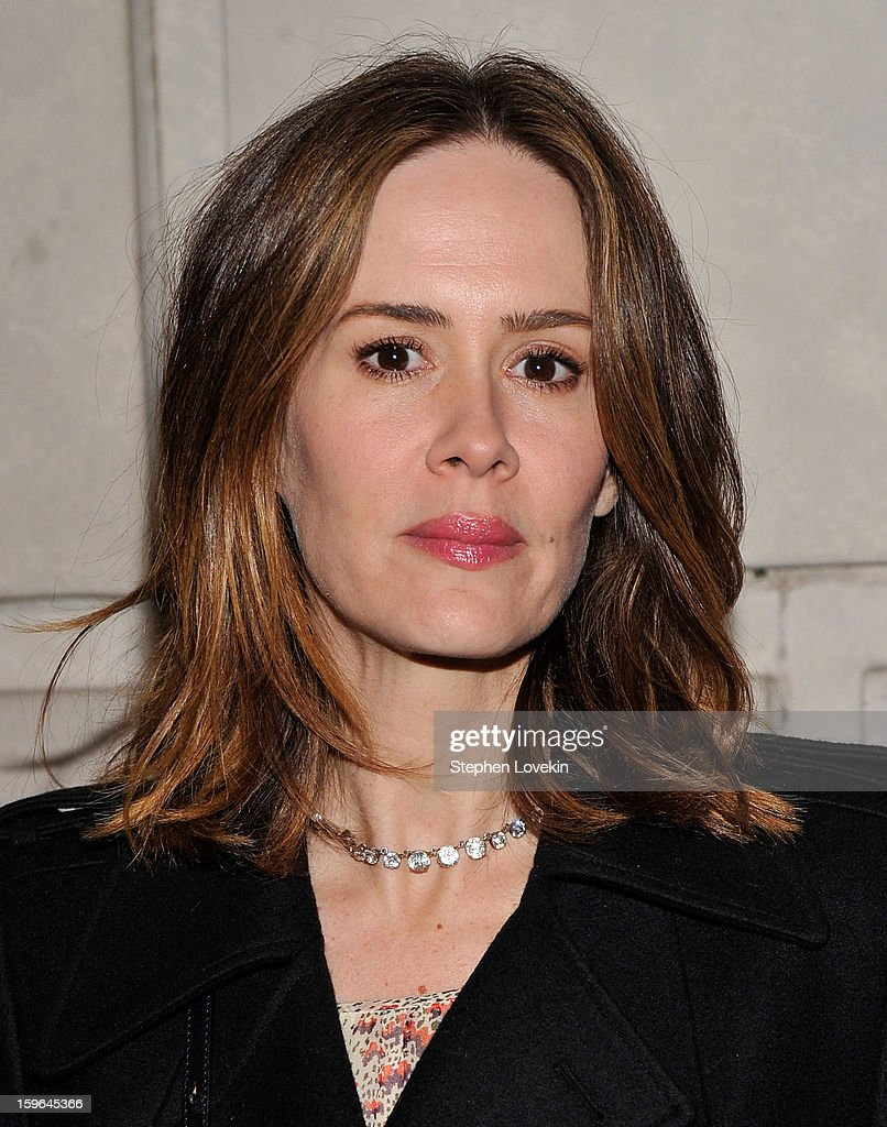 Actress Sarah Paulson attends the 'Cat On A Hot Tin Roof' Opening Night at Richard Rodgers Theatre on January 17, 2013 in New York City.