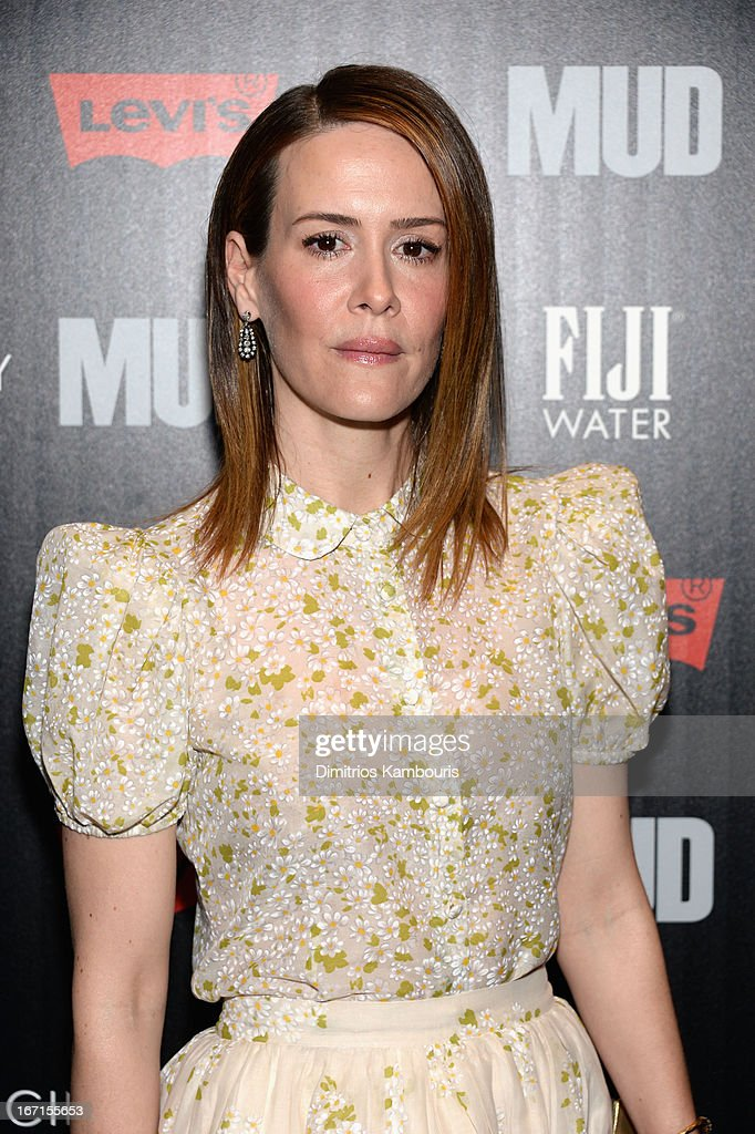 Actress Sarah Paulson attends The Cinema Society With FIJI Water & Levi's screening of 'Mud' at The Museum of Modern Art on April 21, 2013 in New York City.