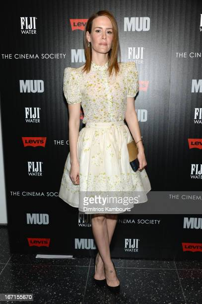 Actress Sarah Paulson attends The Cinema Society With FIJI Water Levi's screening of 'Mud' at The Museum of Modern Art on April 21 2013 in New York...