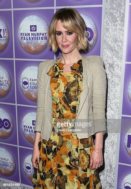 Actress Sarah Paulson attends the Family Equality Council's Los Angeles Awards Dinner at The Beverly Hilton Hotel on February 28 2015 in Beverly...