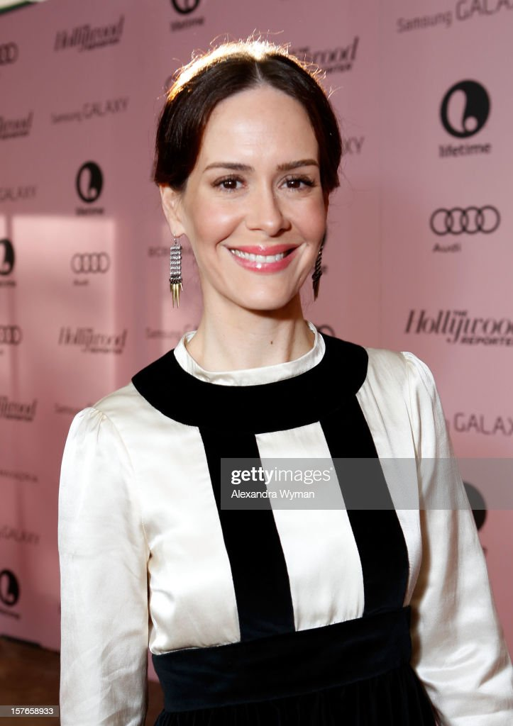 Actress <a gi-track='captionPersonalityLinkClicked' href=/galleries/search?phrase=Sarah+Paulson&family=editorial&specificpeople=220657 ng-click='$event.stopPropagation()'>Sarah Paulson</a> attends The Hollywood Reporter's 'Power 100: Women In Entertainment' Breakfast at the Beverly Hills Hotel on December 5, 2012 in Beverly Hills, California.