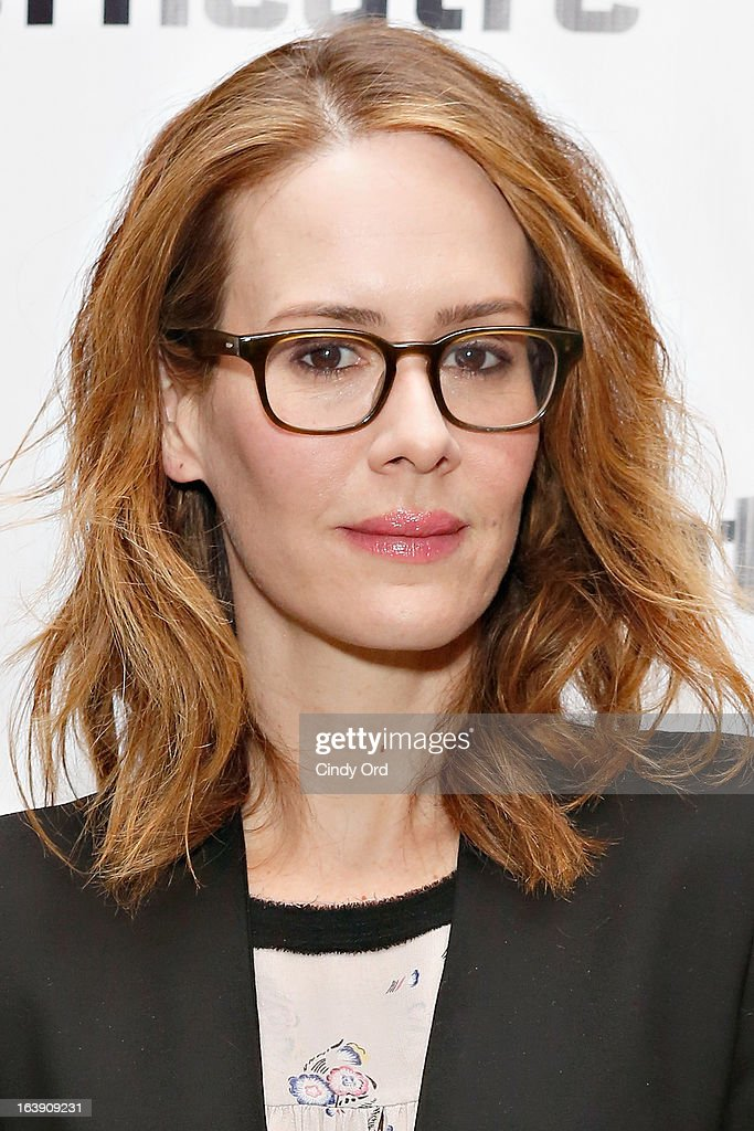 Actress <a gi-track='captionPersonalityLinkClicked' href=/galleries/search?phrase=Sarah+Paulson&family=editorial&specificpeople=220657 ng-click='$event.stopPropagation()'>Sarah Paulson</a> attends 'The Mound Builders' Opening Night Party at Signature Theatre Company's The Pershing Square Signature Center on March 17, 2013 in New York City.