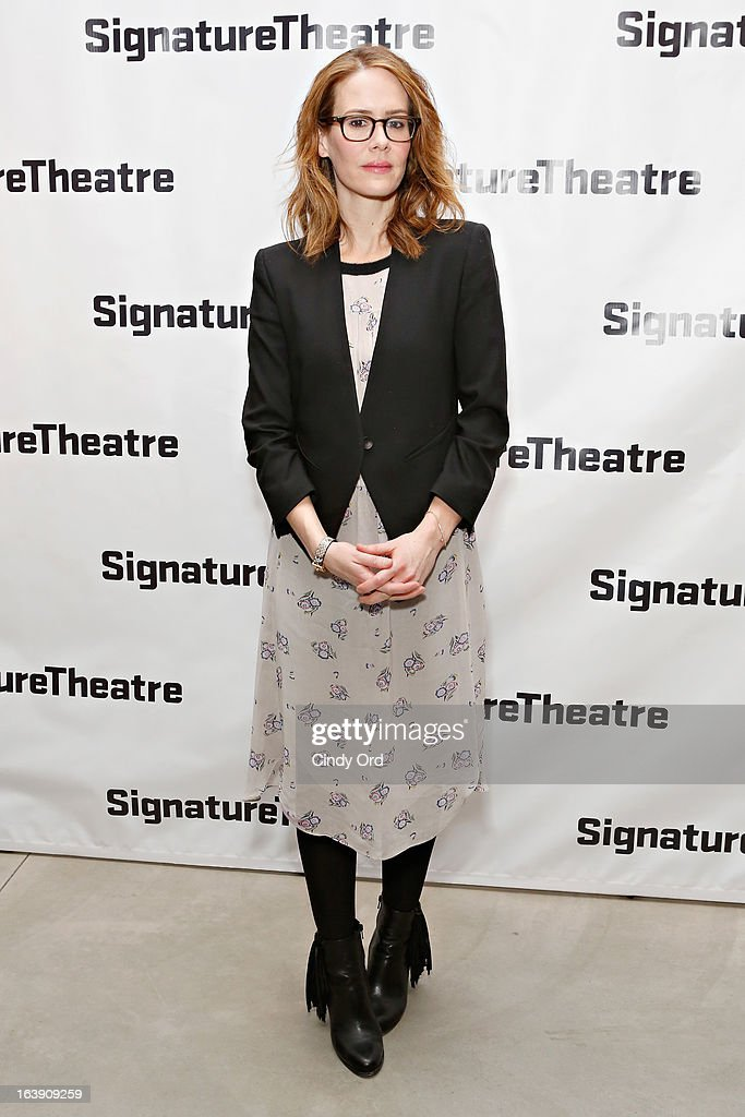 Actress Sarah Paulson attends 'The Mound Builders' Opening Night Party at Signature Theatre Company's The Pershing Square Signature Center on March 17, 2013 in New York City.