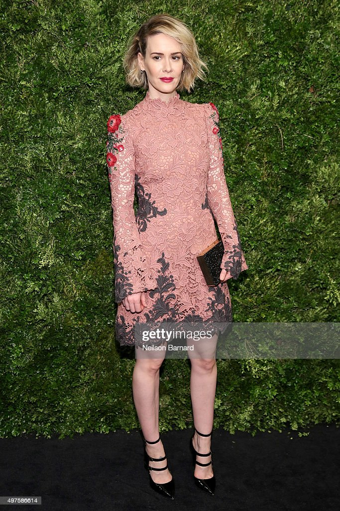 Actress Sarah Paulson attends the Museum of Modern Art's 8th Annual Film Benefit Honoring Cate Blanchett at the Museum of Modern Art on November 17...