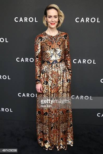 Actress Sarah Paulson attends the New York premiere of 'Carol' at the Museum of Modern Art on November 16 2015 in New York City