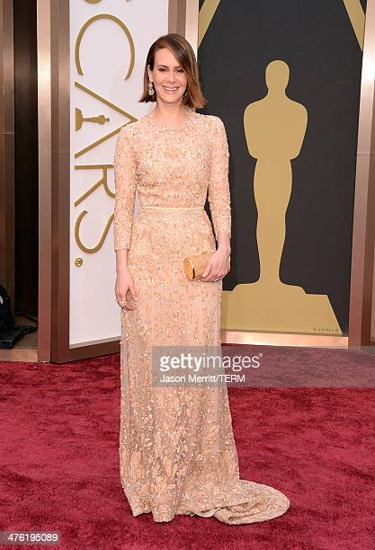 Actress Sarah Paulson attends the Oscars held at Hollywood Highland Center on March 2 2014 in Hollywood California