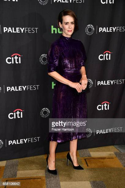Actress Sarah Paulson attends The Paley Center For Media's 34th Annual PaleyFest Los Angeles 'American Horror Story 'Roanoke' screening and panel at...