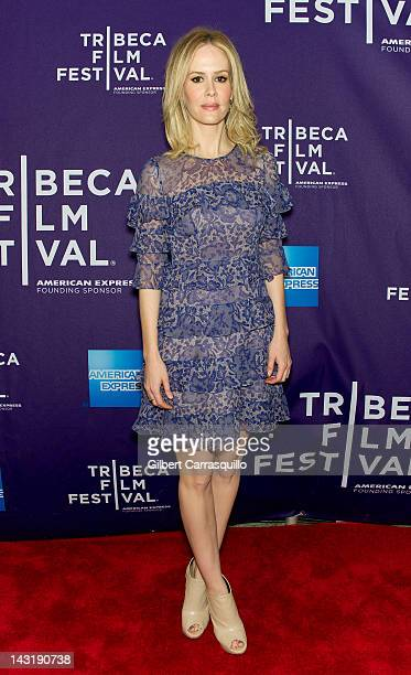 Actress Sarah Paulson attends the premiere of 'Fairhaven' during the 2012 Tribeca Film Festival at AMC Loews Village 7 on April 20 2012 in New York...