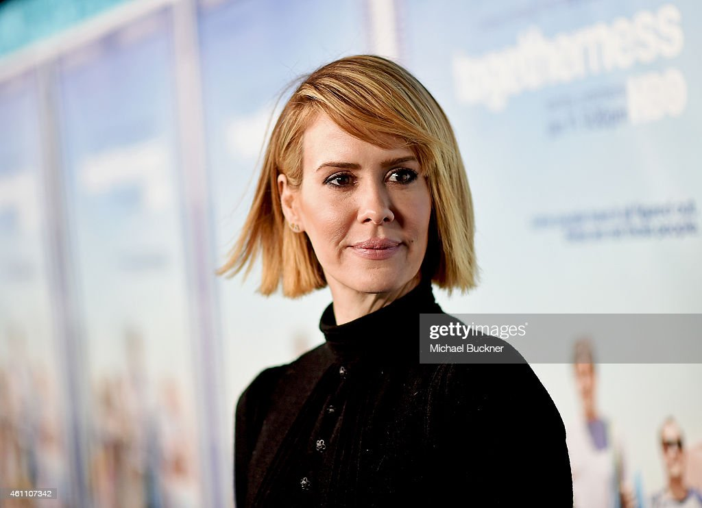Actress Sarah Paulson attends the premiere of HBO's 'Togetherness' at Avalon on January 6 2015 in Hollywood California