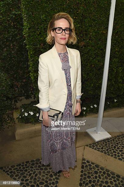 Actress Sarah Paulson attends The Rape Foundation's annual brunch at Greenacres The Private Estate of Ron Burkle on October 4 2015 in Beverly Hills...