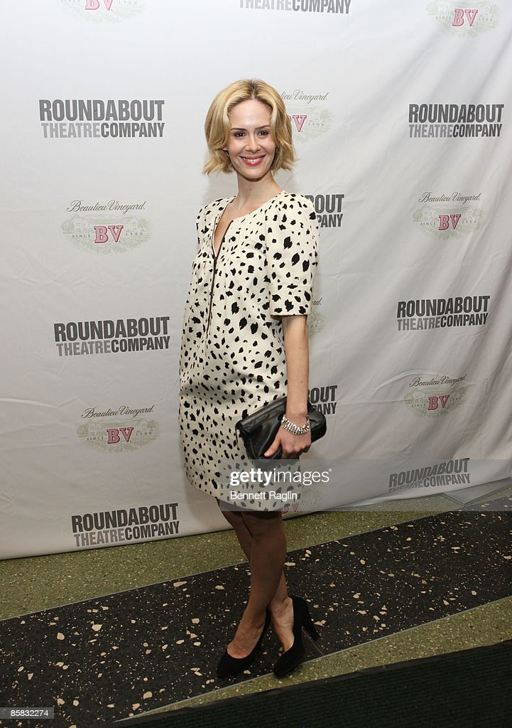 Actress Sarah Paulson attends the Roundabout Theatre Company's 2009 Spring Gala at Roseland Ballroom on April 6, 2009 in New York City.