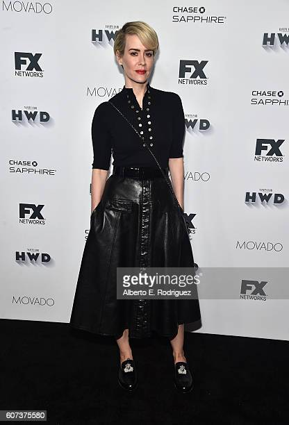 Actress Sarah Paulson attends the Vanity and FX Annual Primetime Emmy Nominations Party at Craft Restaurant on September 17 2016 in Beverly Hills...