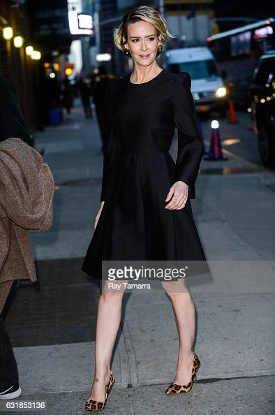 Actress Sarah Paulson enters the 'The Late Show With Stephen Colbert' taping at Ed Sullivan Theater on January 16 2017 in New York City