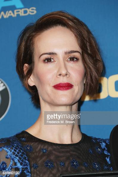 Actress Sarah Paulson poses in the press room during the 69th Annual Directors Guild of America Awards at The Beverly Hilton Hotel on February 4 2017...