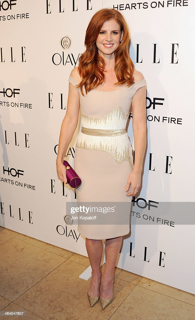 Actress <a gi-track='captionPersonalityLinkClicked' href=/galleries/search?phrase=Sarah+Rafferty&family=editorial&specificpeople=668359 ng-click='$event.stopPropagation()'>Sarah Rafferty</a> arrives at the ELLE Women In Television Celebration at Sunset Tower on January 22, 2014 in West Hollywood, California.