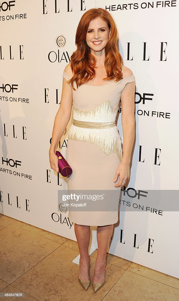 Actress Sarah Rafferty arrives at the ELLE Women In Television Celebration at Sunset Tower on January 22, 2014 in West Hollywood, California.
