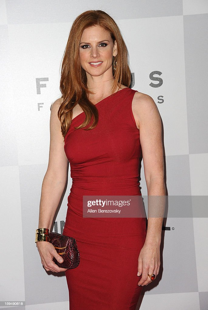 Actress Sarah Rafferty arrives at the NBC Universal's 70th annual Golden Globe Awards after party on January 13, 2013 in Beverly Hills, California.