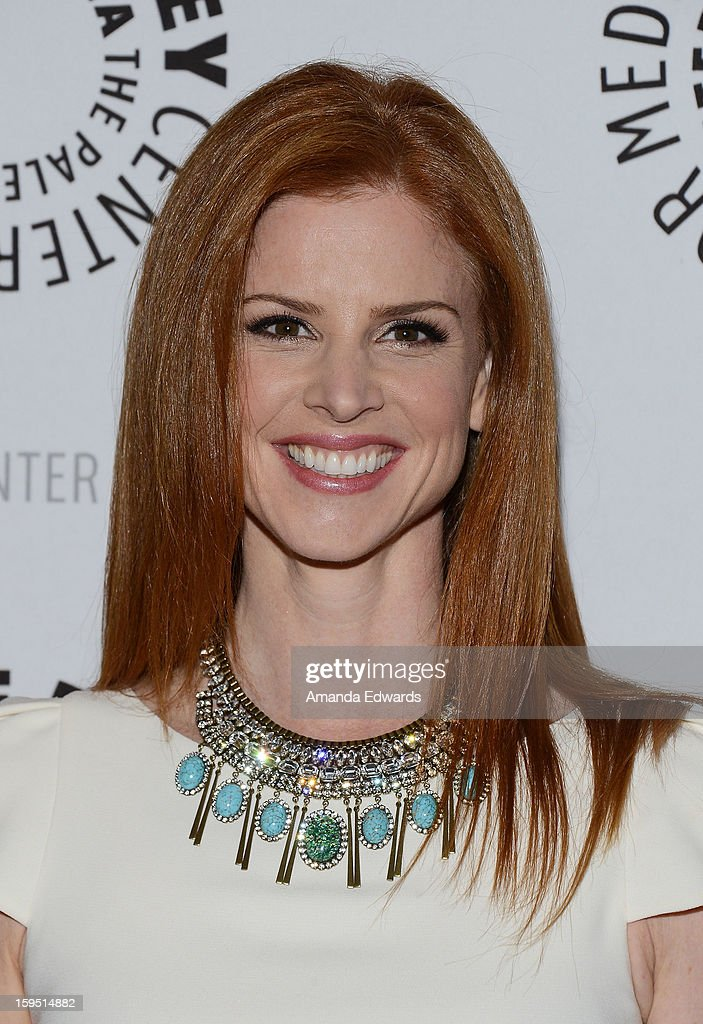 Actress Sarah Rafferty arrives at The Paley Center For Media Presents An Evening With 'Suits' Mid-Season Premiere Screening And Panel at The Paley Center for Media on January 14, 2013 in Beverly Hills, California.