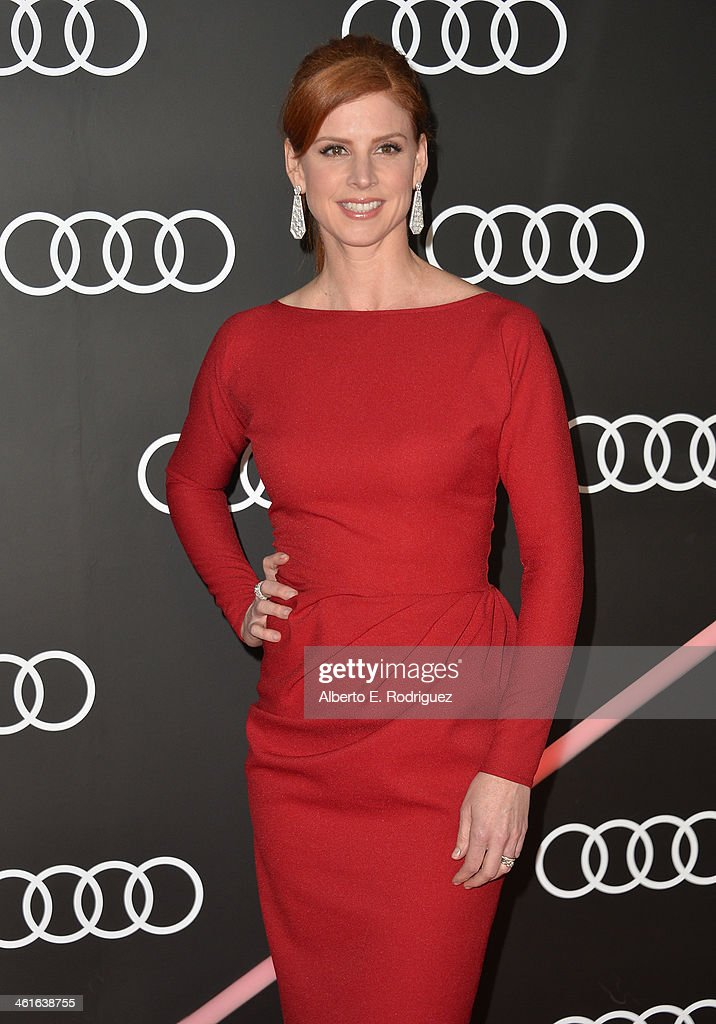 Actress Sarah Rafferty arrives to Audi Celebrates Golden Globes Weekend at Cecconi's Restaurant on January 9, 2014 in Los Angeles, California.