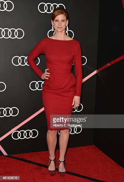 Actress Sarah Rafferty arrives to Audi Celebrates Golden Globes Weekend at Cecconi's Restaurant on January 9 2014 in Los Angeles California