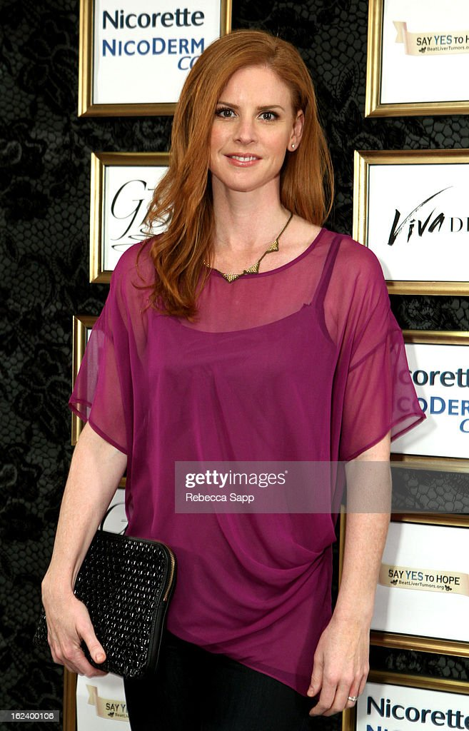 Actress <a gi-track='captionPersonalityLinkClicked' href=/galleries/search?phrase=Sarah+Rafferty&family=editorial&specificpeople=668359 ng-click='$event.stopPropagation()'>Sarah Rafferty</a> at GBK's Oscars Gift Lounge 2013 - Day 1 at Sofitel Hotel on February 22, 2013 in Los Angeles, California.
