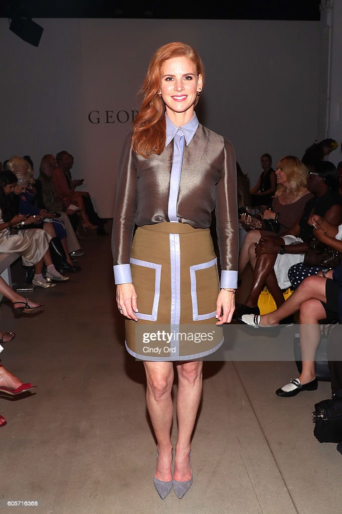 Actress Sarah Rafferty at the Georgine fashion show during New York Fashion Week: The Shows September 2016 at The Gallery, Skylight at Clarkson Sq on September 14, 2016 in New York City.