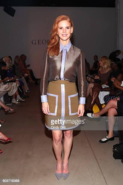 Actress Sarah Rafferty at the Georgine fashion show during New York Fashion Week The Shows September 2016 at The Gallery Skylight at Clarkson Sq on...