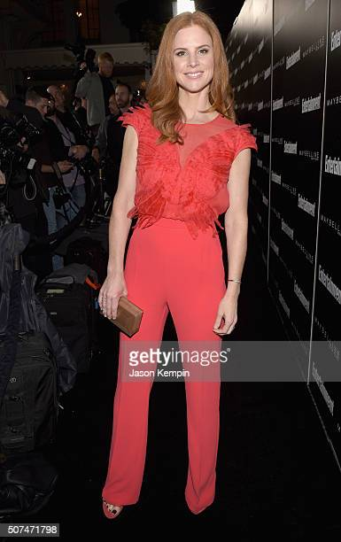 Actress Sarah Rafferty attends Entertainment Weekly Celebration Honoring The Screen Actors Guild Awards Nominees presented by Maybelline at Chateau...