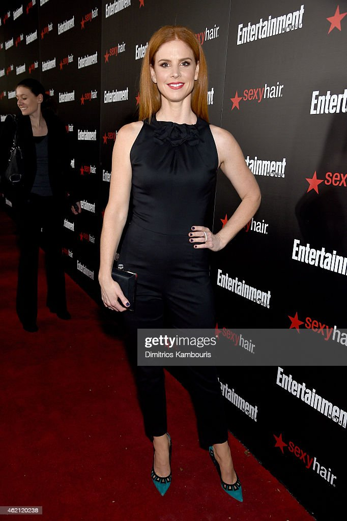 Actress Sarah Rafferty attends Entertainment Weekly's celebration honoring the 2015 SAG awards nominees at Chateau Marmont on January 24, 2015 in Los Angeles, California.