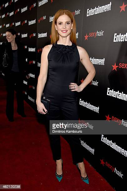 Actress Sarah Rafferty attends Entertainment Weekly's celebration honoring the 2015 SAG awards nominees at Chateau Marmont on January 24 2015 in Los...