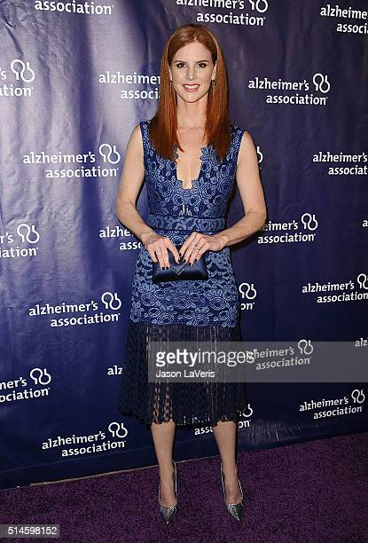 Actress Sarah Rafferty attends the 2016 Alzheimer's Association's 'A Night At Sardi's' at The Beverly Hilton Hotel on March 9 2016 in Beverly Hills...