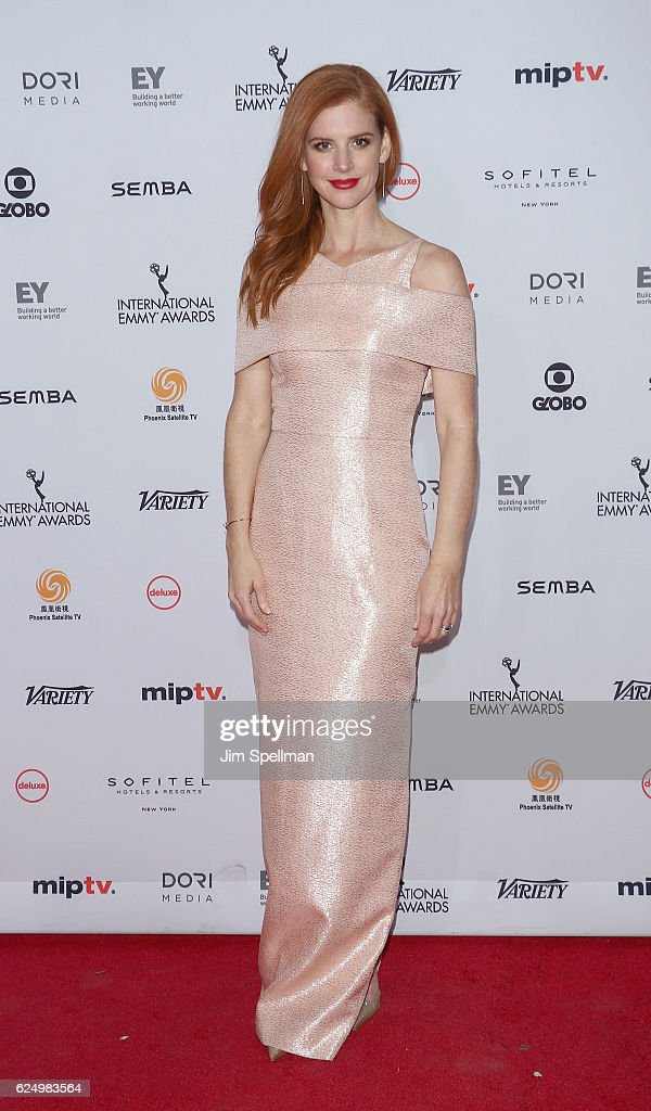 Actress Sarah Rafferty attends the 2016 International Emmy Awards at New York Hilton on November 21, 2016 in New York City.