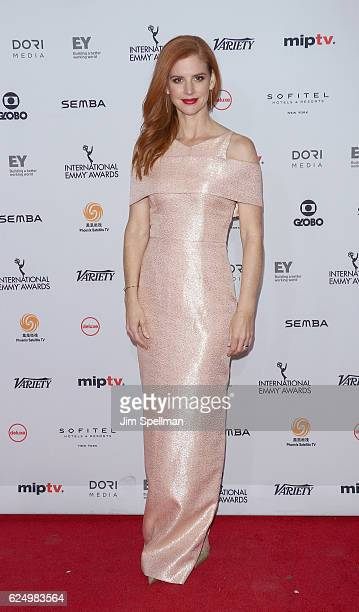 Actress Sarah Rafferty attends the 2016 International Emmy Awards at New York Hilton on November 21 2016 in New York City