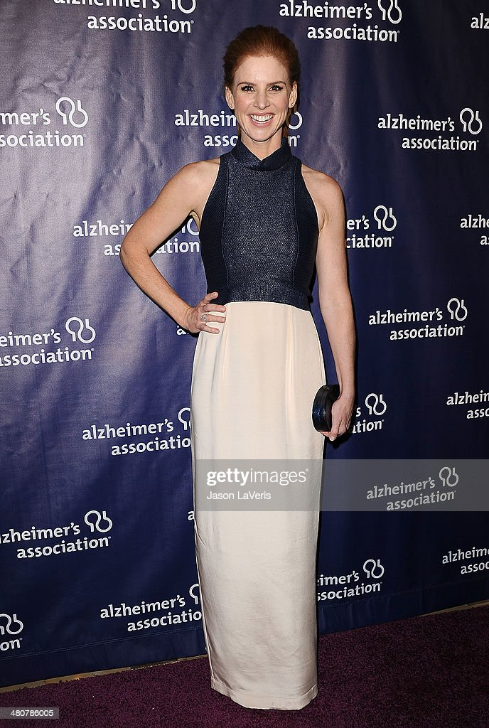 Actress Sarah Rafferty attends the 22nd 'A Night At Sardi's' at The Beverly Hilton Hotel on March 26, 2014 in Beverly Hills, California.