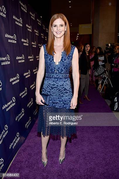 Actress Sarah Rafferty attends the 24th and final 'A Night at Sardi's' to benefit the Alzheimer's Association at The Beverly Hilton Hotel on March 9...