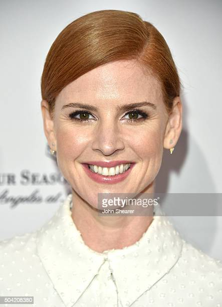 Actress Sarah Rafferty attends the BAFTA Awards Season Tea Party at Four Seasons Hotel Los Angeles at Beverly Hills on January 9 2016 in Los Angeles...