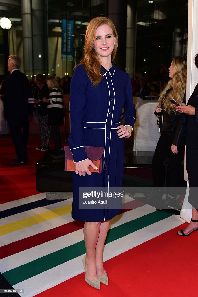 Actress Sarah Rafferty attends the 'LBJ' premiere during the 2016 Toronto International Film Festival at Roy Thomson Hall on September 15, 2016 in Toronto, Canada.