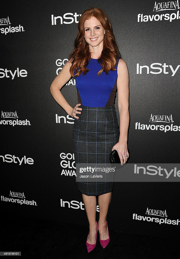 Actress Sarah Rafferty attends the Miss Golden Globe event at Fig & Olive Melrose Place on November 21, 2013 in West Hollywood, California.