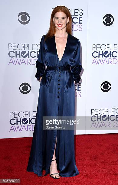 Actress Sarah Rafferty attends the People's Choice Awards 2016 at Microsoft Theater on January 6 2016 in Los Angeles California