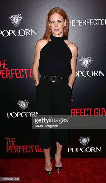 Actress Sarah Rafferty attends the premiere of Screen Gems' 'The Perfect Guy' at the WGA Theater on September 2 2015 in Beverly Hills California