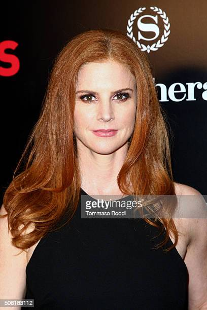 Actress Sarah Rafferty attends the premiere of USA Network's 'Suits' season 5 held at Sheraton Los Angeles Downtown Hotel on January 21 2016 in Los...