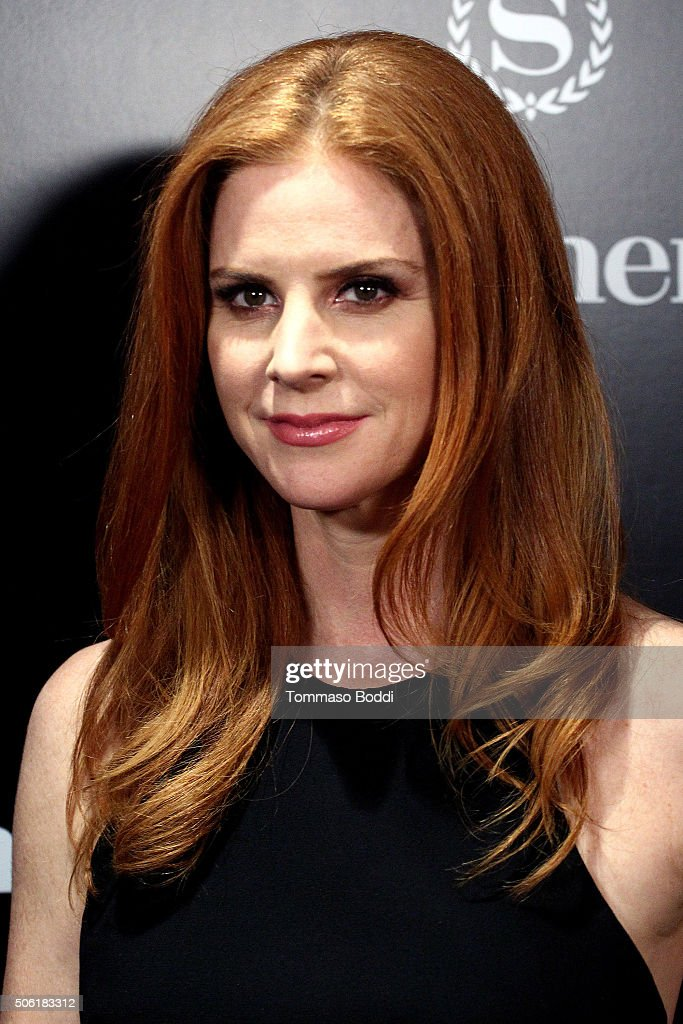 Actress Sarah Rafferty attends the premiere of USA Network's 'Suits' season 5 held at Sheraton Los Angeles Downtown Hotel on January 21, 2016 in Los Angeles, California.