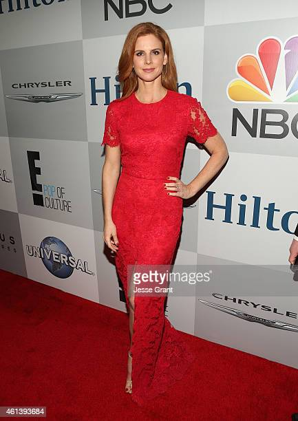 Actress Sarah Rafferty attends Universal NBC Focus Features and E Entertainment 2015 Golden Globe Awards After Party sponsored by Chrysler and Hilton...