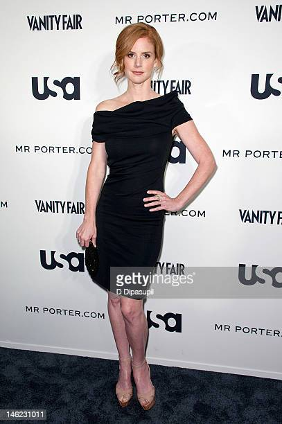 Actress Sarah Rafferty attends USA Network's a 'Suits' Story fashion show at the High Line on June 12 2012 in New York City
