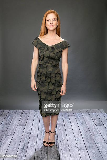Actress Sarah Rafferty poses for a portrait during the NBCUniversal Press Day at The Langham Huntington Pasadena on January 14 2016 in Pasadena...